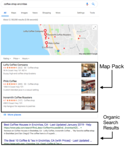 Google Map Pack Example